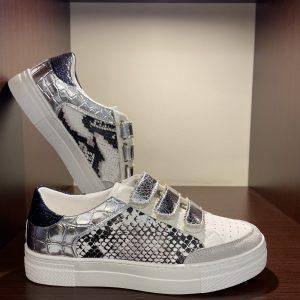 Sneakers velcro silver